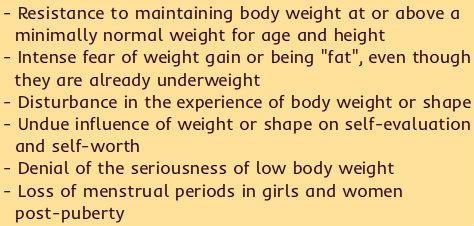 anorexia symptoms