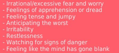 anxiety emotional symptoms