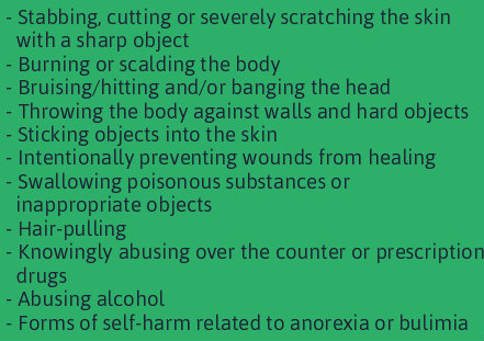 self harm symptoms